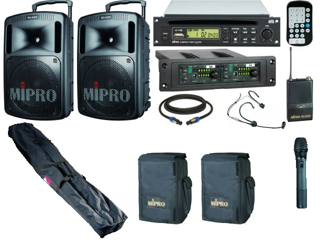 MIPRO MA-808PA MK3 Complete Package - Click Image to Close